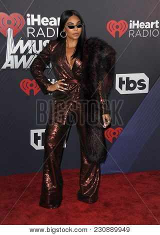 Ashanti at the 2018 iHeartRadio Music Awards held at the Forum in Inglewood, USA on March 11, 2018.
