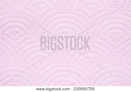 Closeup Surface Pink Toilet Paper Texture Background