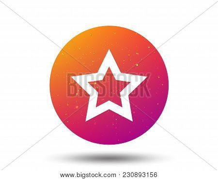 Star Icon. Favorite Or Best Sign. Web Ranking Symbol. Circle Button With Soft Color Gradient Backgro