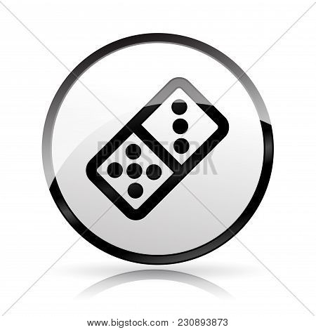 Illustration Of Domino Icon On White Background