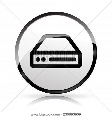 Illustration Of Hdd Icon On White Background