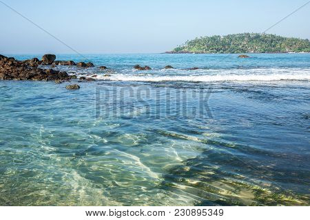 Crystal Clear Water On The Shores Of The Indian Ocean