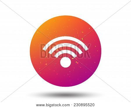 Wifi Icon. Wireless Internet Sign. Communication Technology Symbol. Circle Button With Soft Color Gr