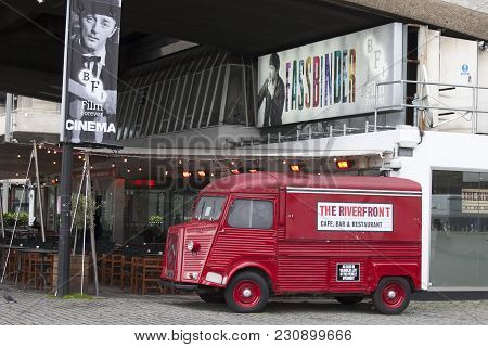 London, England - March 12, 2017 Riverfront Bar At The British Film Institute - Bfi, South Bank, Lon