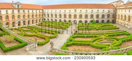 Panorama Of Mosteiro De Santa Maria De Alcobaca With Cloister Of Silence. The Complex Of Alcobaca Is