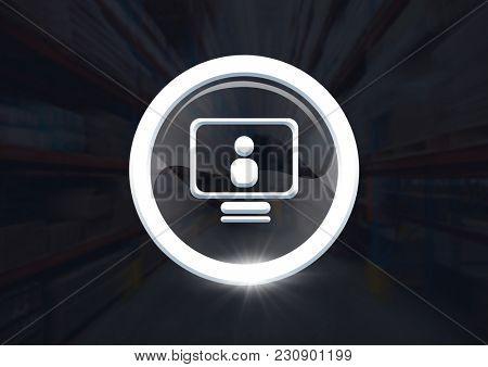 Digital composite of computer profile icon graphic