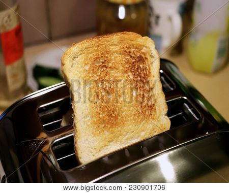 The Tasty Toast For Snack Or Breakfest From Machine