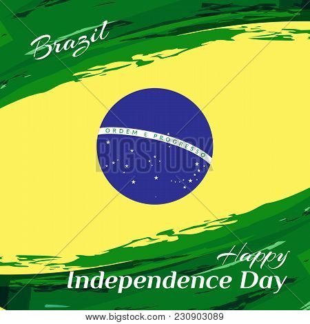 Brazil Independence Day National Flag Of Brazil Background Vector Illustration