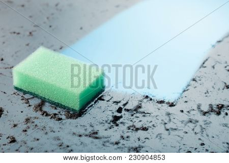 Dirty Glass And A Sponge .