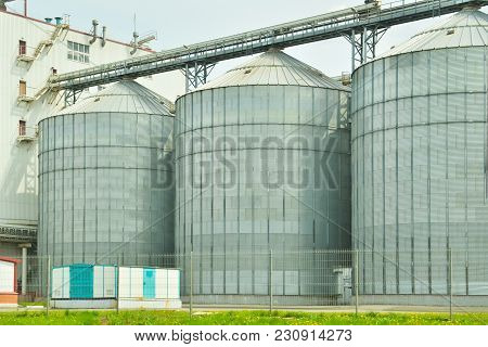 Grain Elevator. Concept Of Cleaning, Drying, Storage And Transportation Of Agricultural Grain