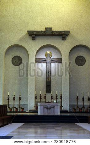 MUNSTER SCHWARZACH, GERMANY - JULY 09: Munsterschwarzach Abbey, Benedictine monastery, Germany on July 09, 2017.