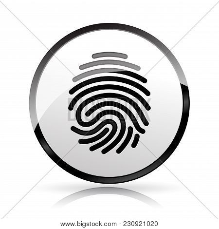 Illustration Of Finger Print Icon On White Background