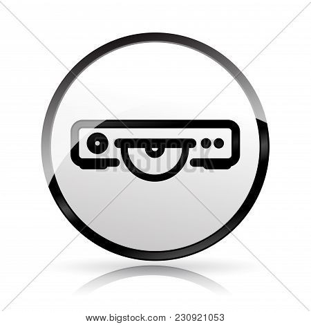 Illustration Of Video Player Icon On White Background