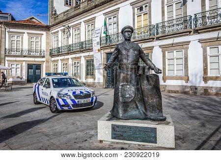 Porto, Portugal - December 8, 2016: Statue Of Carlos Humberto Da Silva Delgado In Porto