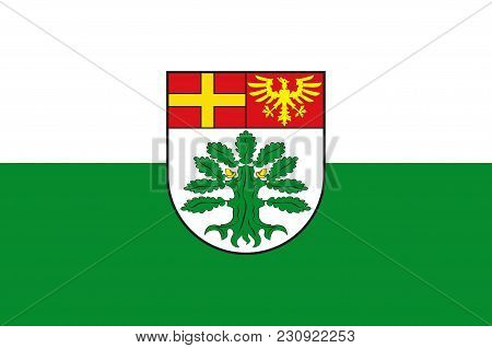 Flag Of Schloss Holte-stukenbrock Is A Town In The District Of Guetersloh In The State Of North Rhin