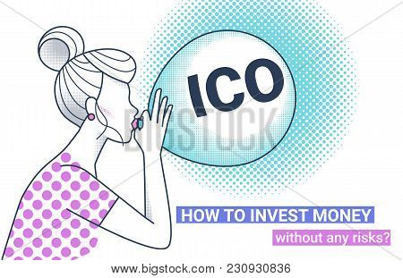 Ico Fraud Conceptual Design How To Invest Money Without Risks. Initial Coin Offering Concept White V