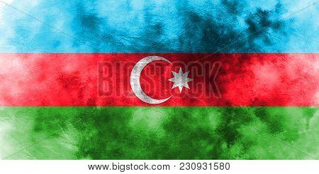 Old Azerbaijan Grunge Background Flag, Azerbaijan Flag