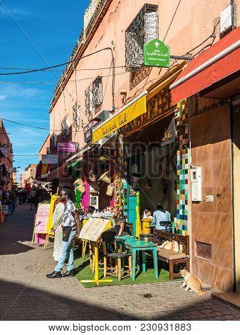 Street Scene In The Medina Of Marrakesh, Morocco