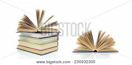 Book Isolated On White Background. Horizontal Photo.