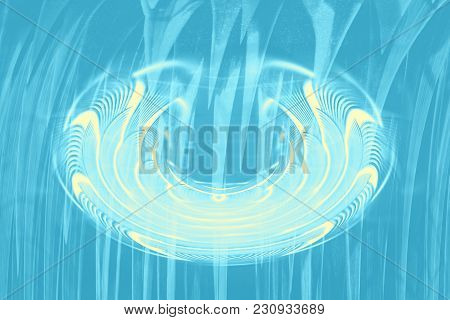 Hallucinogenic blue striped background. Accumulation of astral energy. poster