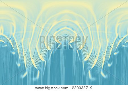 Hallucinogenic Blue Striped Background. Accumulation Of Astral Energy.