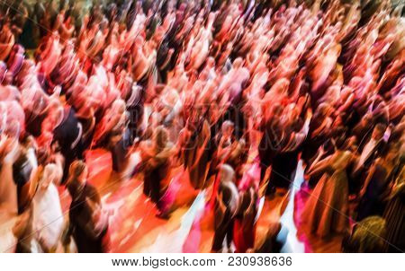 Large Group Of People Dancing At A Ball