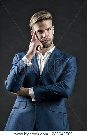 Success, Confidence, Elegance. Man In Formal Suit Jacket, Shirt, Fashion. Business, Entrepreneurship