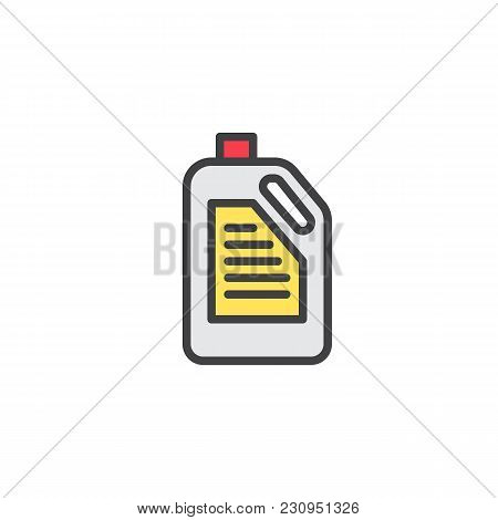 Detergent Canister Filled Outline Icon, Line Vector Sign, Linear Colorful Pictogram Isolated On Whit