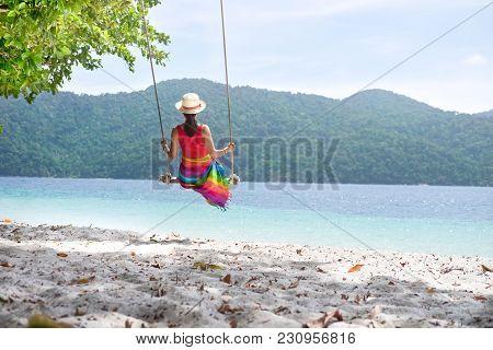 Tropical Summer Beach Vacation.