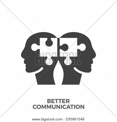 Better Communication Glyph Vector Icon Isolated On The White Background.