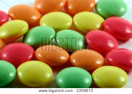 Colored Pills On White