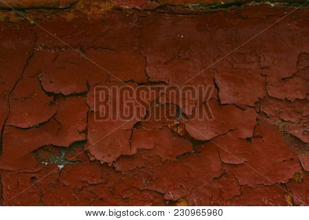 An Old Cracked Wall Texture.cracked Paint On The Wall. Old Paint Texture.grunge Wall Texture.an Old
