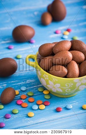 Full Bowl Of Easter Chocolate Eggs
