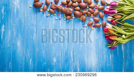 Easter Blue Background