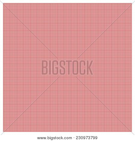 Pixel Or Technical Grid Aligned On All Lines. Millimeter Paper Background. Square Grid Background. F