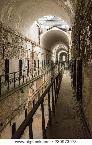 Philadelphia, Pa - December 23: Historic Eastern State Penitentiary On December 23, 2017 In Philadel