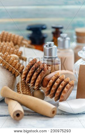 Wooden Roller Tools For Manual Massage.