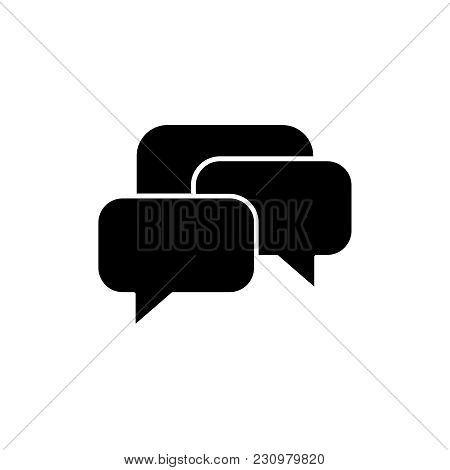 Message Communication Icons On The White Background