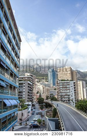 Transport Interchange And Residential Area Of Monaco.