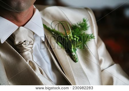 Detail Of The Groom's Costume