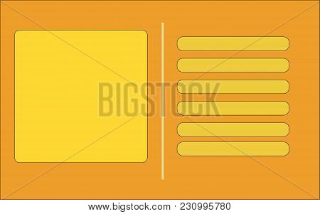 Vector Illustration Of The Orange Business Card. Procurement For Execution Of The Business Card, The