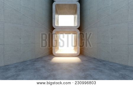 abstract concrete structure nobody around 3d rendering image