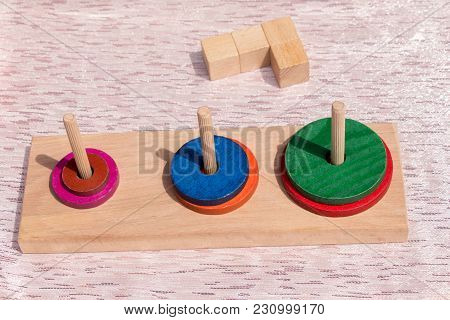 Colorful Wooden Puzzle Element The The  View