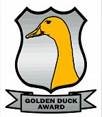 Cricket Golden Duck Award Shield with silver background VB poster