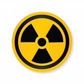 Ionizing radiation logo warning attention icon. Hazard radioactive Poison symbol. Alert Flat Vector illustration. Vector attention sign with exclamation mark icon. risk sign vector illustration. poster