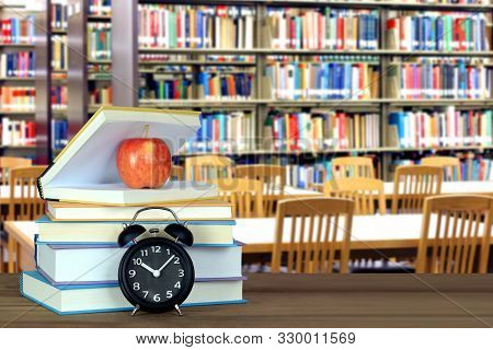 An Empty Blury Library In The School For Education Concept