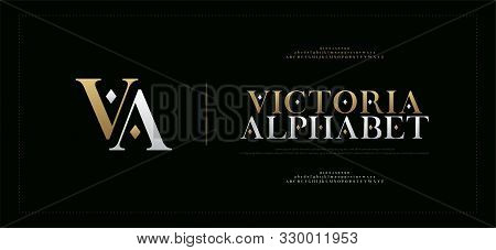 Elegant Alphabet Letters Serif Font And Number. Classic Lettering Minimal Fashion. Typography Fonts
