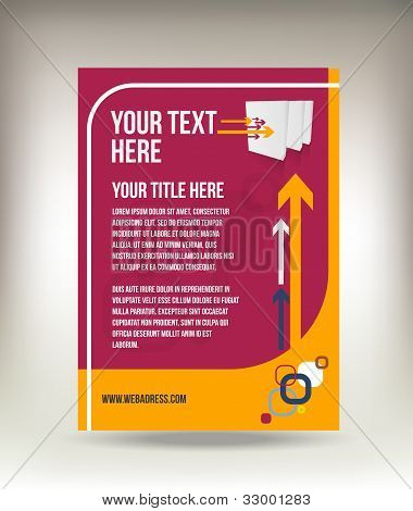 Modern vector flyer design isolated on background poster