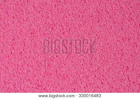 Porous dark pink ethylene vinyl acetate, foam texture. poster