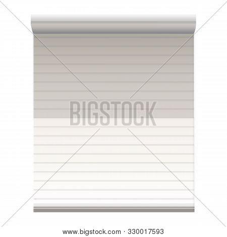 Plastic Window Jalousie Icon. Cartoon Of Plastic Window Jalousie Vector Icon For Web Design Isolated